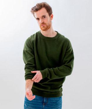 sudadera de algodón orgánico verde