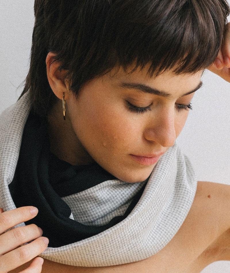 pañuelo unisex tubular hecho en Barcelona