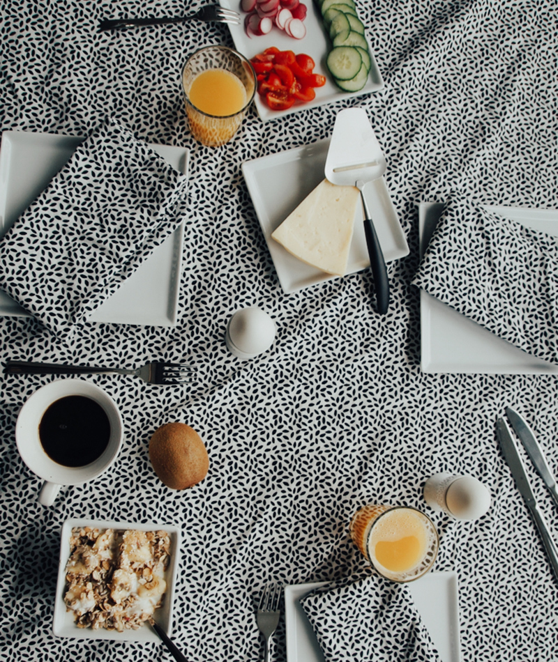 Tablecloth made by 100% Organic Cotton Lingon
