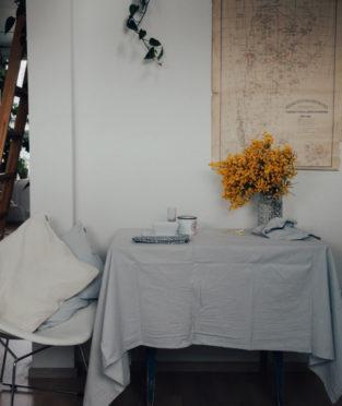 mantel y servilletas de algodó
