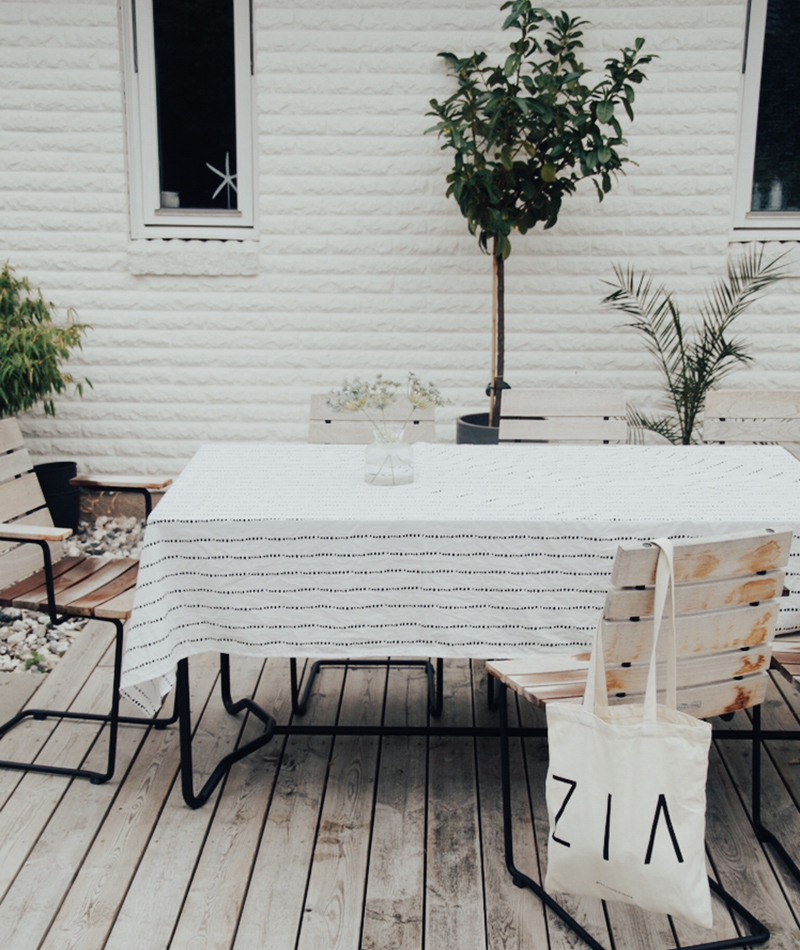 Tablecloth made by 100% Organic Cotton Liv