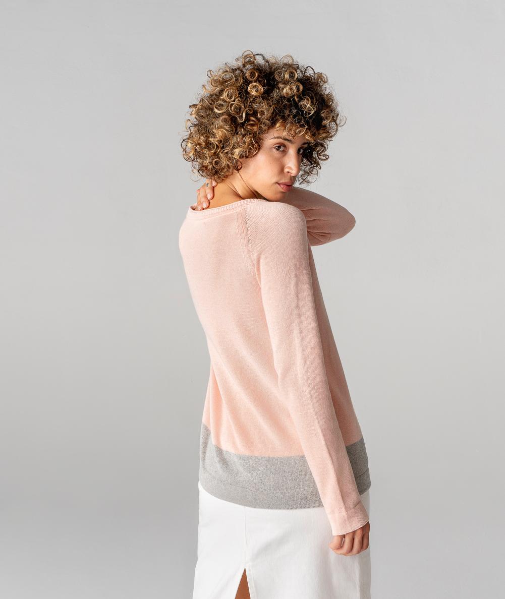 chaqueta de punto de algodón orgánico y ecológico fabricada en España