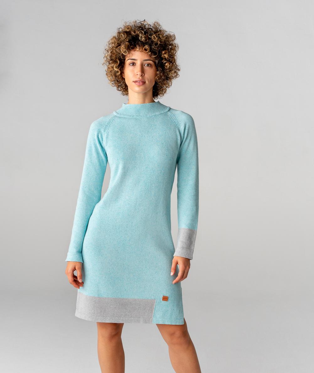 vestido sostenible de punto de algodón