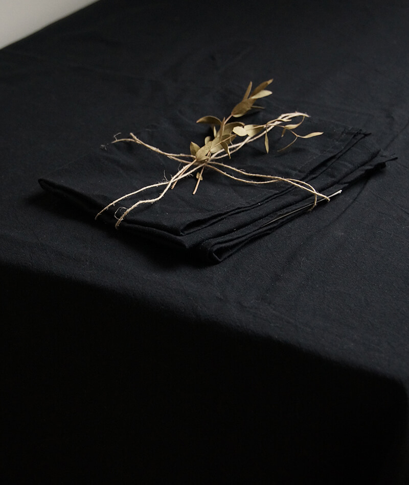 Tablecloth made by 100% Organic Cotton Carbon