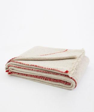 manta de cana teixidors lana merina ecológica de Francia