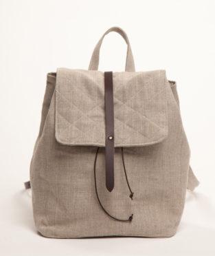mochila de lino hecha en Barcelona