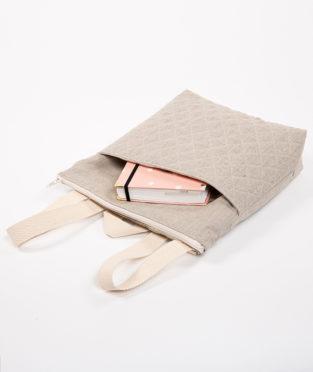 mochila de lino vegana hecha en españa