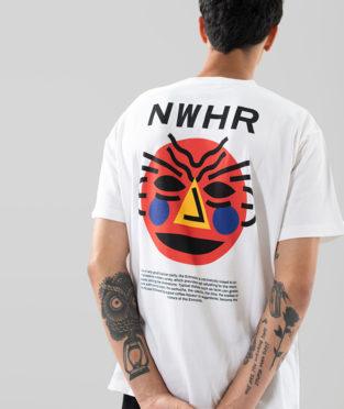 camiseta de algodón orgánico máscara entroido
