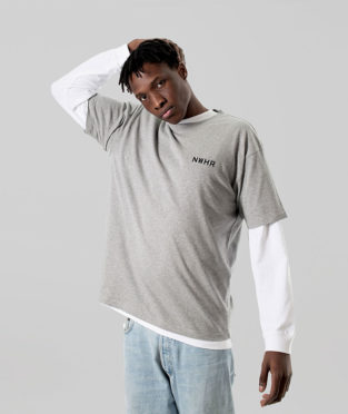 camiseta básica gris 100% algodón orgánico