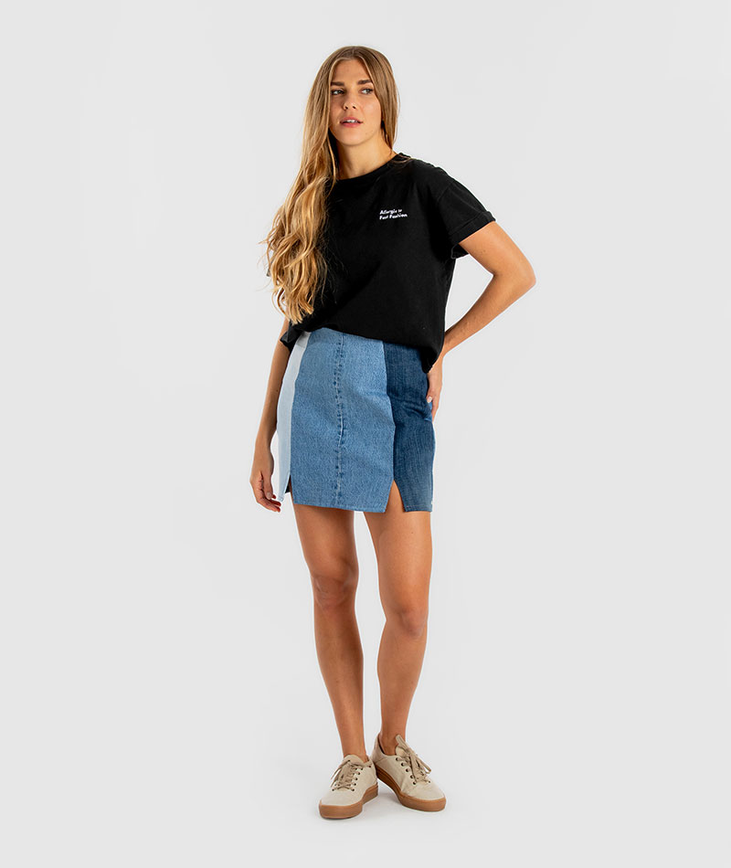 minifalda vaquera upcycled