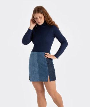 minifalda vaquera reciclada infinit denim