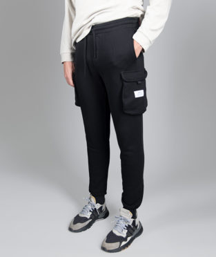 pantalón cargo negro 100% algodón orgánico