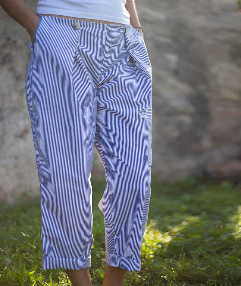 pantalón verano 100% algodón orgánico certificado GOTS