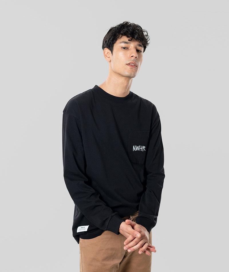 camiseta manga larga negra 100% algodón orgánico