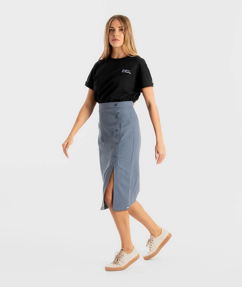 falda reciclada infinit denim