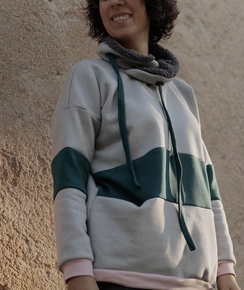 sudadera 100% algodón orgáncio hecha a mano en España