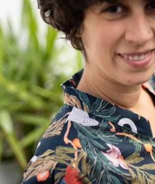 blusa de flores 100% algodón ecológico
