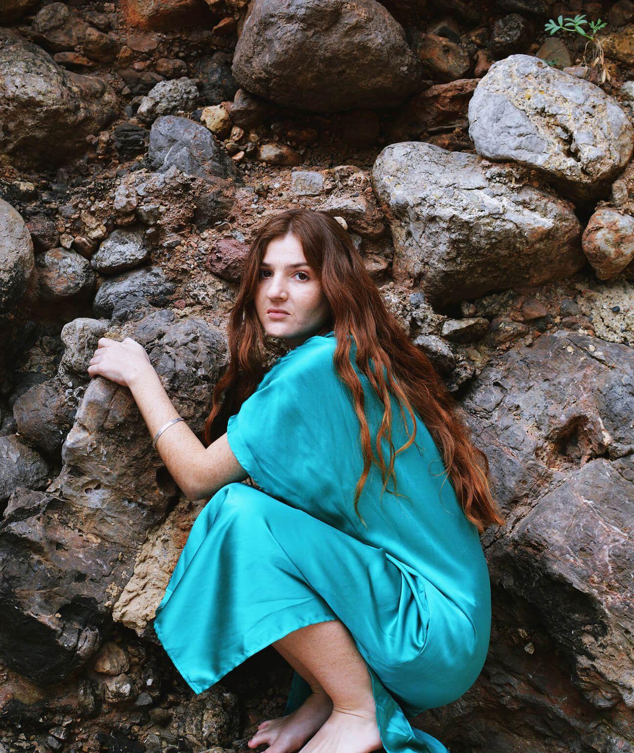 vestido de seda y algodón fabricado en España
