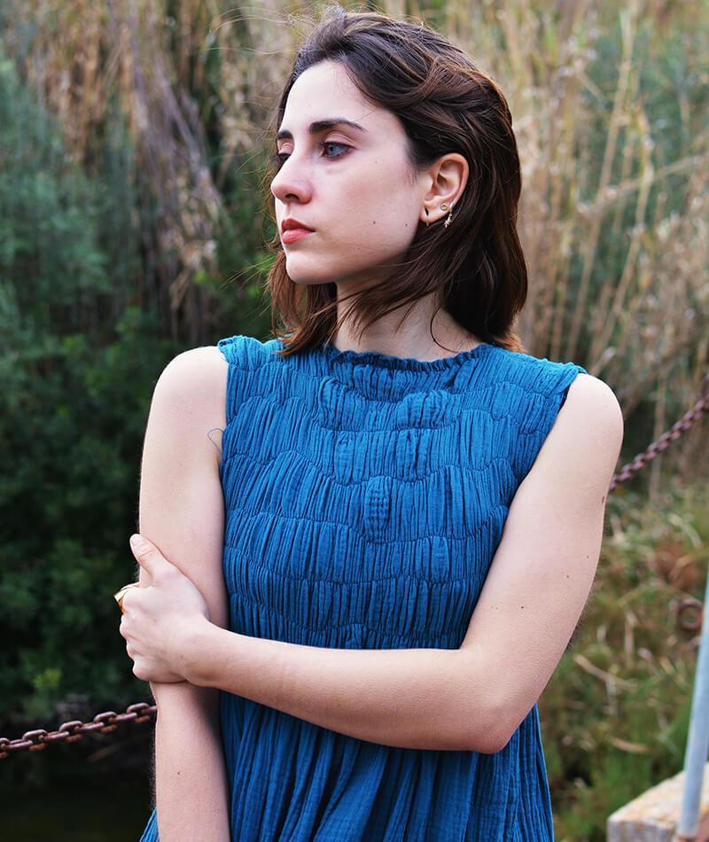 vestido largo de algodón orgánico fabricado en España