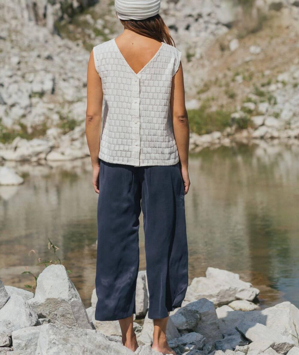 pantalones frescos de cupro hechos en España