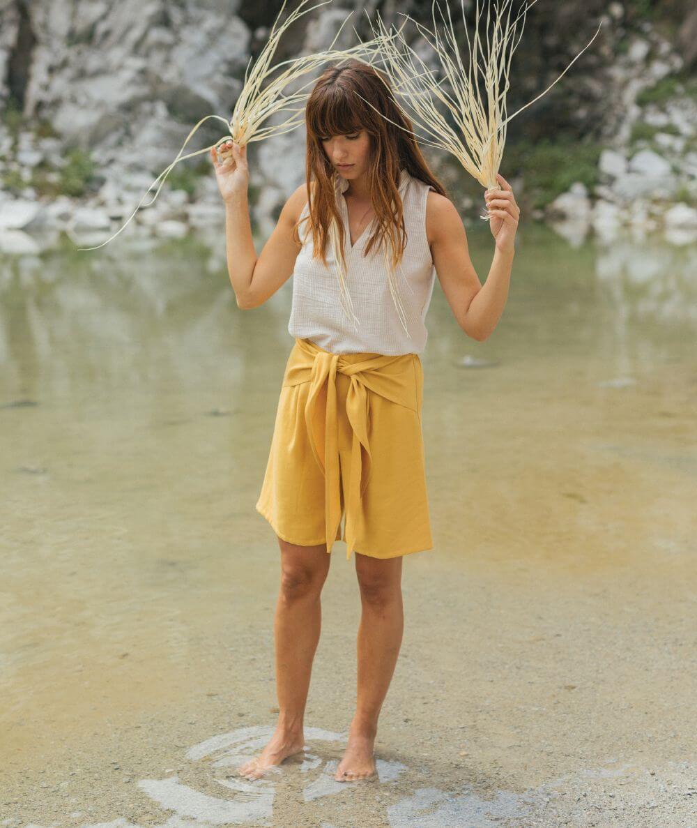 pantalones cortos de mujer fabricados en España