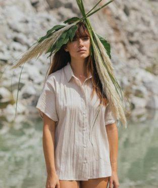 camisa de mujer hecha en barcelona