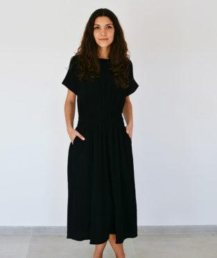 vestido largo muselina 100% algodón orgánico