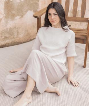blusa de algodón orgánico hecha en España