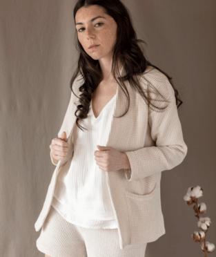 chaqueta algodón orgánico fabricada en España