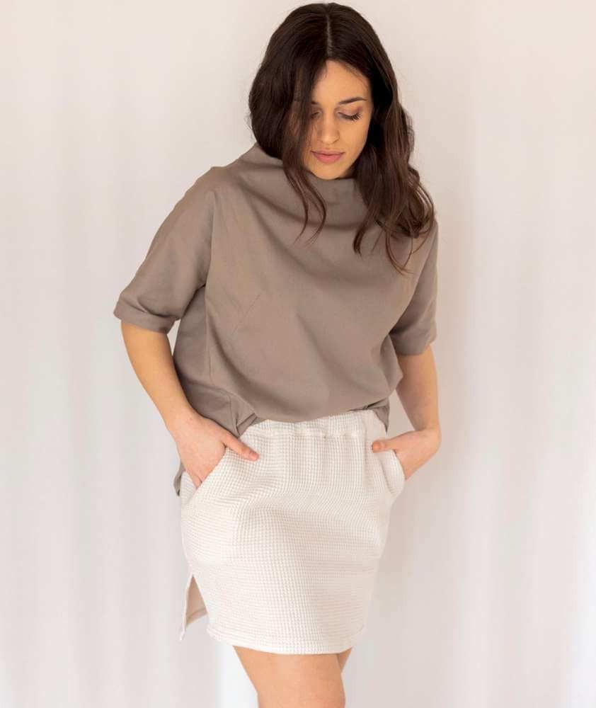 minifalda 100% algodón orgánico hecha en barcelona