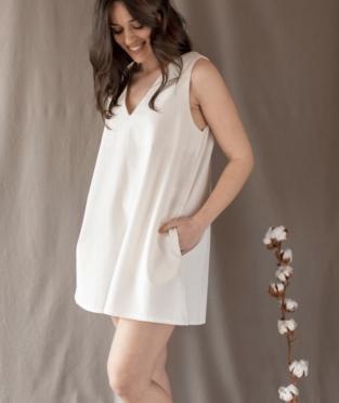 vestido 100% algodón hecho en Barcelona