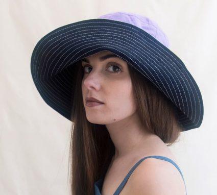 sombrero de lino de ala ancha