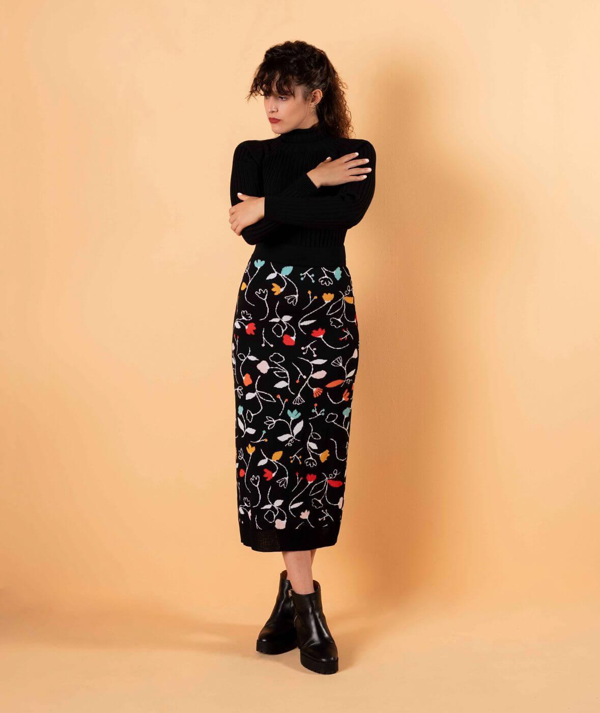guía de tallas falda lana merina hecha en España