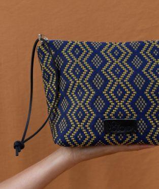 bolso de mano tejido algodon artesano Mei