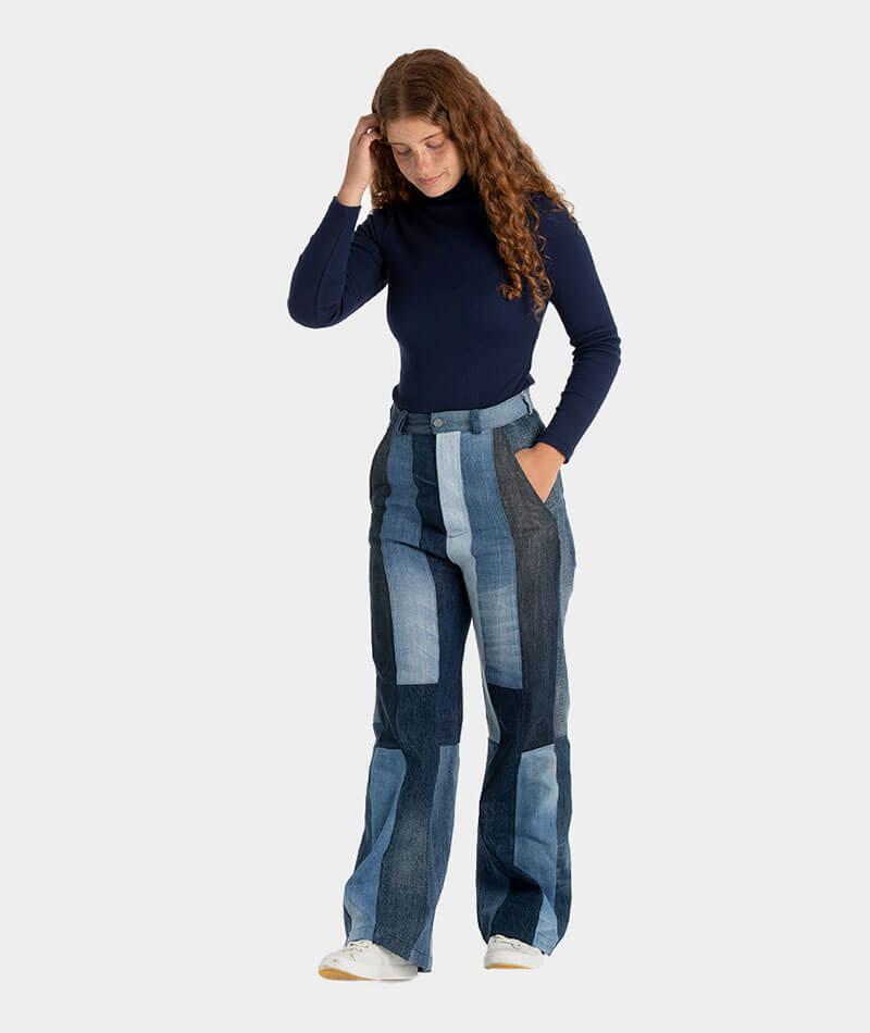pantalones vaqueros upcycling